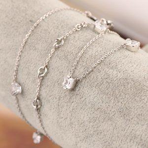 Henri Bendel Zircon Multi-Drop Short Necklace